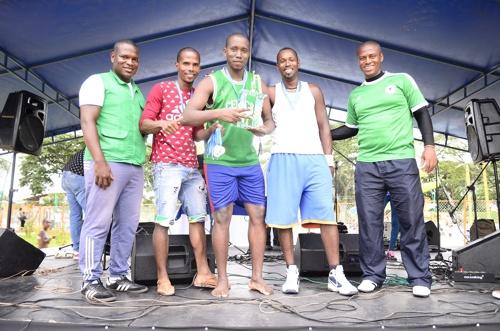 Se realizó la Copa de los Trabajadores y Fiesta del Afiliado en el Centro Recreativo La Ceiba - 2do lugar baloncesto equipo de Guachené