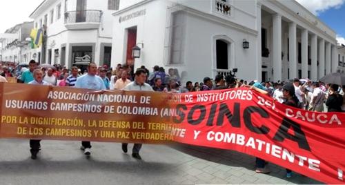 Campesinos y profesores anunciaron paro en el Cauca
