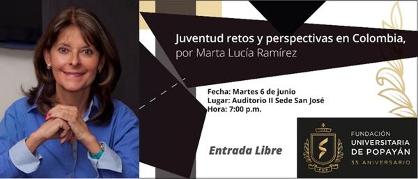 Conversatorio Juventud, retos y perspectivas en Colombia en Popayán - FUP - Marta Lucía Ramírez