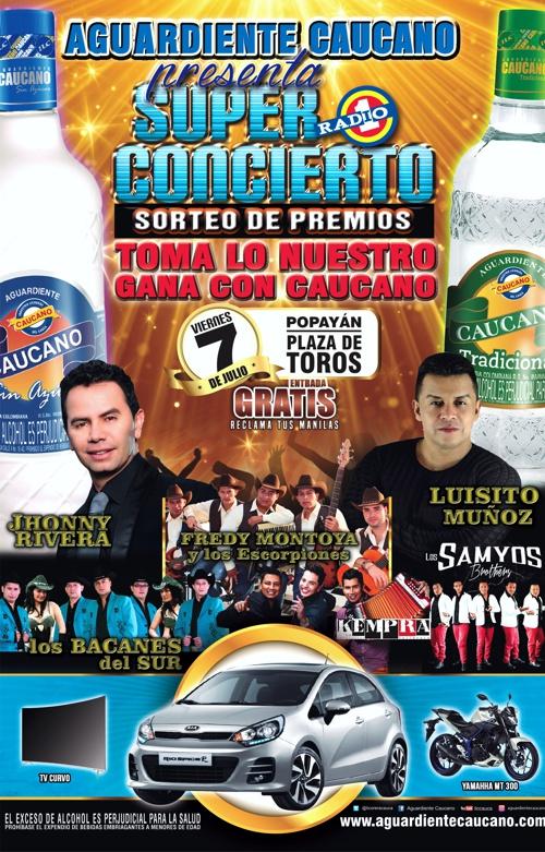 Súper Concierto Aguardiente Caucano - Julio 07 de 2017