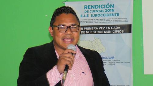 Alexander de Jesús Sánchez Paz, gerente ESE Sur Occidente