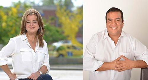 Ministra de Vivienda Elsa Noguera y Óscar Campo, gobernador del Cauca