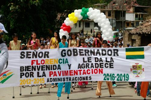 Pavimentación de la vía que desde Higuerones hasta la cabecera municipal
