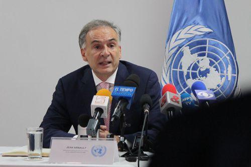 Jean Arnault, jefe de la Misión de la ONU en Colombia. Foto de archivo UNIC Bogotá