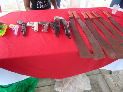 Jornada de desarme voluntario en Villa Rica