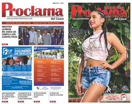 Lea gratis aquí la edición No. 383 de Proclama del Cauca