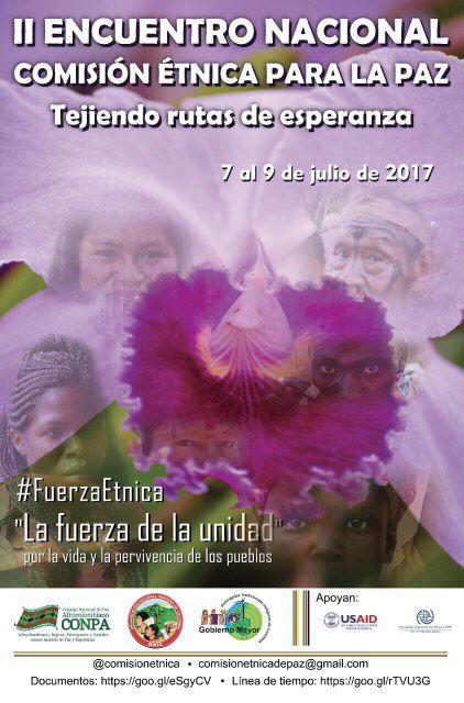 II Encuentro Nacional Comisión Étnica para la Paz 'Tejiendo rutas de esperanza'