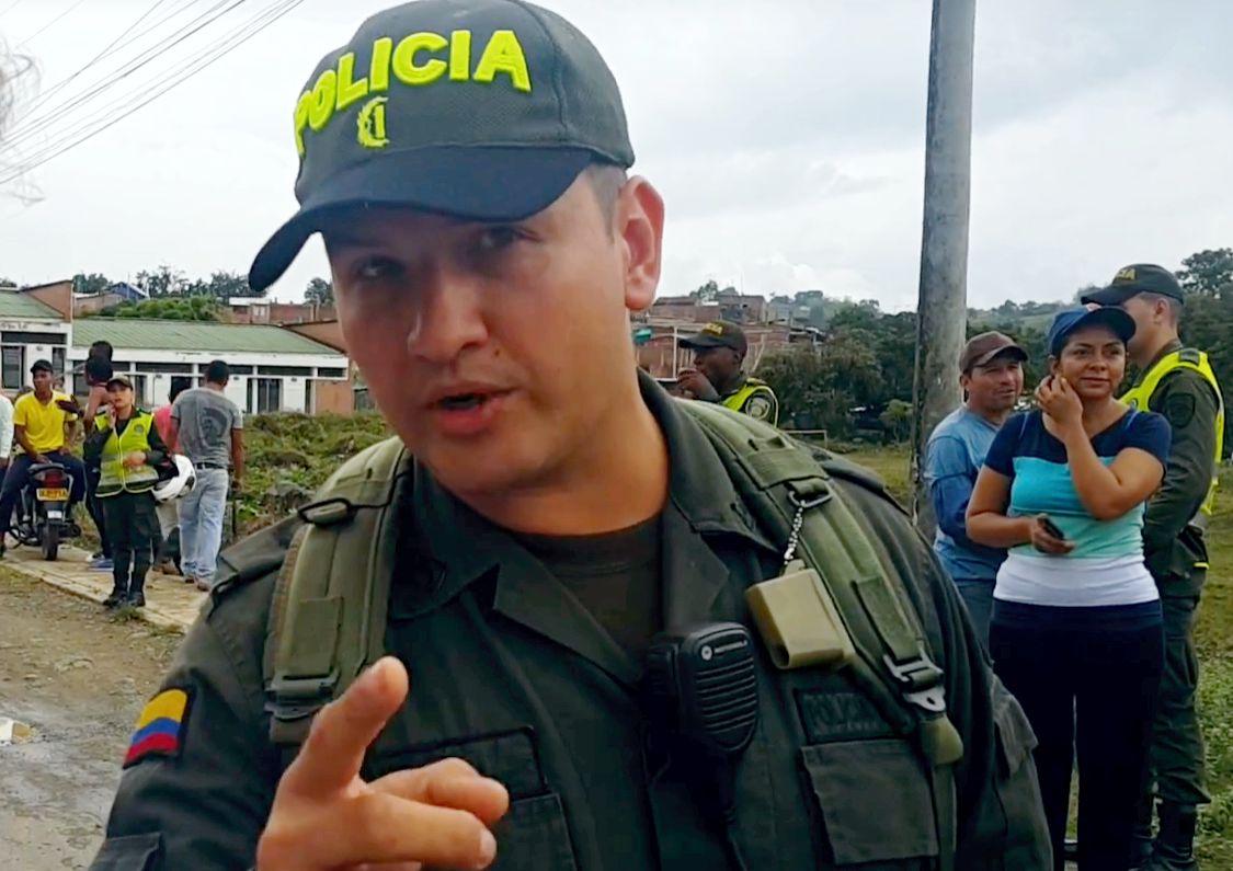 Comandante Estación de Policía Santander de Quilichao, mayor Jesús David Ruíz