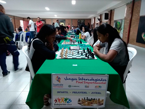 Juegos Supérate en el Cauca Ajedrez