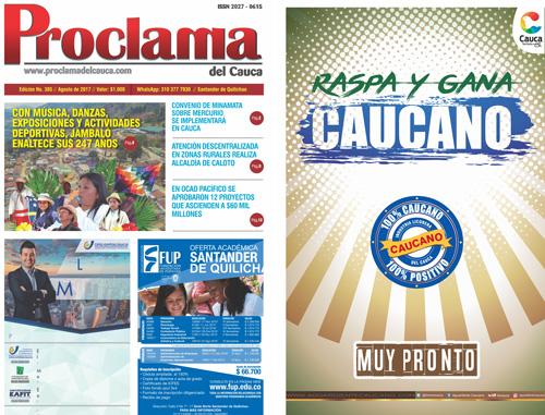 Edición No. 385 - Proclama del Cauca - Agosto de 2017
