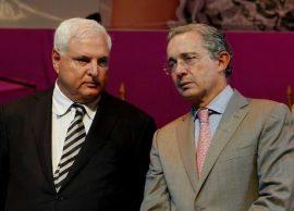 Ricardo Martinelli y Alvaro Uribe