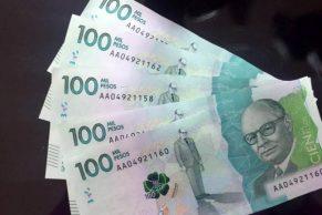 billetes de $ 100 mil