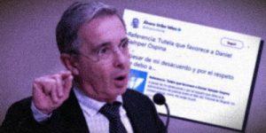 El senador Uribe se retractó por los señalamientos a Daniel Samper Ospina. Montaje FLIP