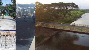 Antes, durante y después del Puente Principal de Guachené