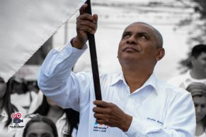 Marcha por la paz en solidaridad con los policías asesinados en Miranda