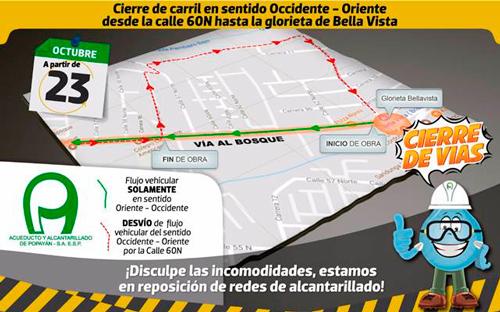 Reposición de redes de alcantarillado en Popayán