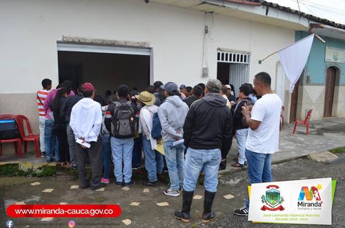 Primer pago a cultivadores de cultivos ilícitos en Miranda