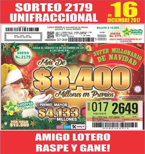 Llega el Súper Millonario de Navidad de la LOTERÍA DEL CAUCA