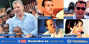 Presidente Santos y Alcalde de Caldono en vivo por Facebook