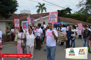 No a la violencia contra la mujer mirandeña