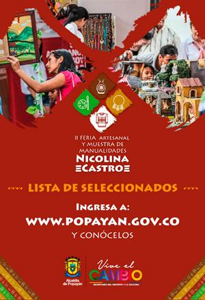 Listos los seleccionados para la II Feria Nicolina Castro