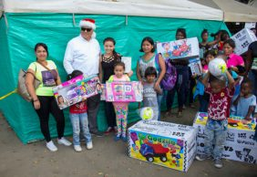 La Cabaña entregó más de 7 mil regalos a niños del norte del Cauca