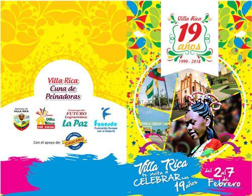 Villa Rica celebrará 19 años de vida administrativa