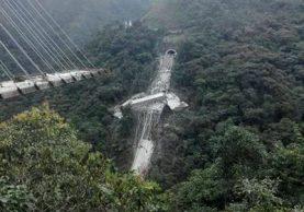 Al menos siete muertos deja desplome de puente Chirajara