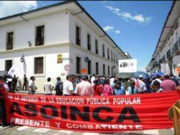 Amenazas en contra de líderes de Asoinca
