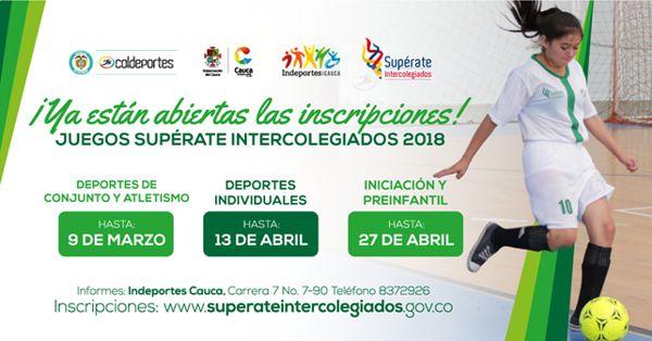 Inscripciones Abiertas para los Juegos ¡Supérate!