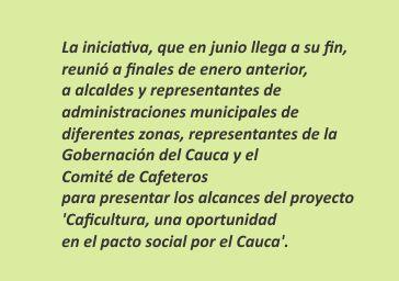 """El norte del Cauca se la """"juega"""" por el café"""