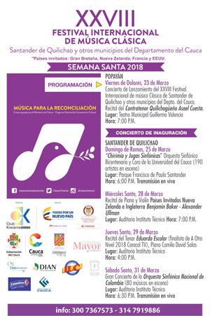 Contratenor caucano dará apertura al Festival Internacional de Música Clásica