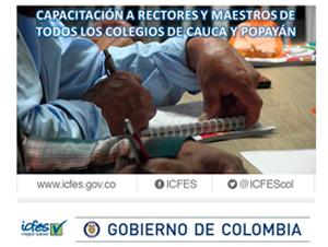 Icfes capacitaráarectoresymaestrosdelos colegios de Cauca