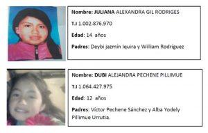 Niñas indígenas desaparecidas