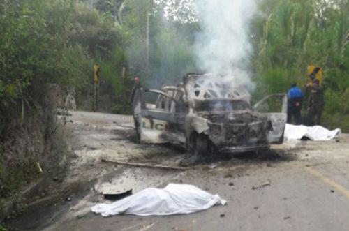 En emboscada asesinan dos policías en Caldono