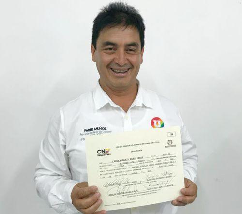 Faber Muñoz Cerón, confirmado Representante a la Cámara