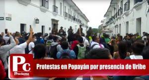 Popayán rechazó la visita de Uribe