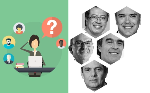 Iván Duque lidera intención de voto — Colombia