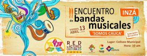 Encuentro de bandas musicales Somos Cauca, en Inzá