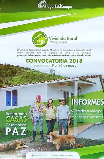Construcción de Vivienda de Interés Social Rural para la población víctima del conflicto armado