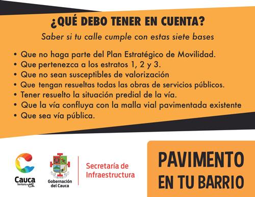 Gobernación lanza programa Pavimentación en Tu Barrio
