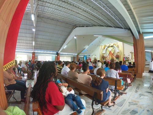 Manifestaciones culturales afro en la iglesia Nuestra Señora del Rosario