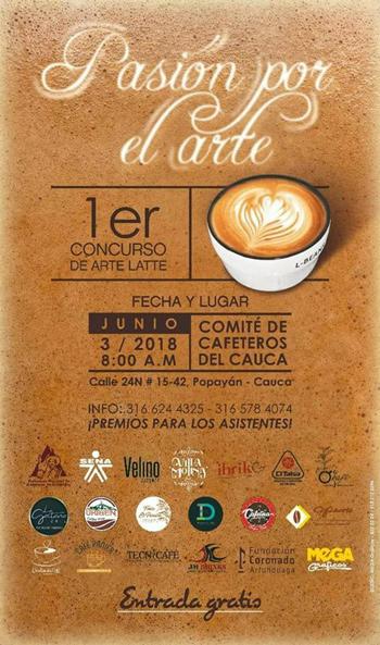 Entrada libre al primer concurso de Arte Latte en Popayán