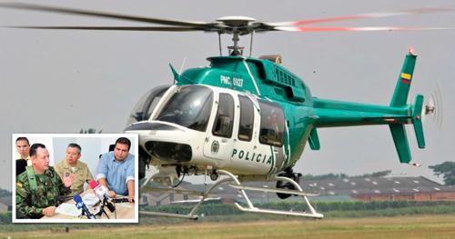 Helicóptero que transportaba al gobernador del Cauca aterrizó de emergencia