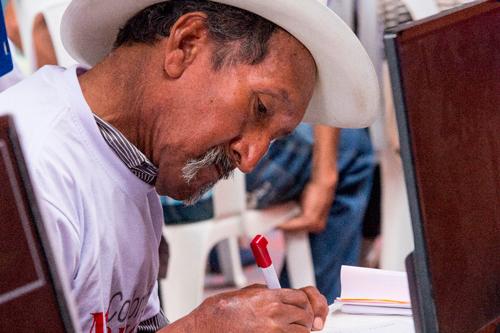 Beneficiario del programa Colombia Mayor