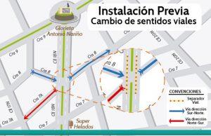 Cambio de sentido vial en Popayán