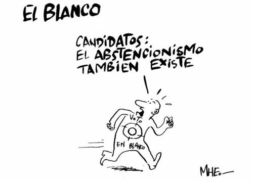 EL VOTO EN BLANCO = ABSTENCIÓN