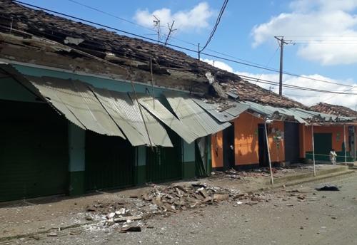 Explosión en Siberia, municipio de Caldono