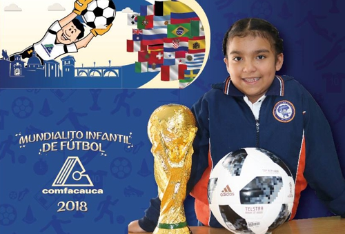Mundialito infantil de fútbol Comfacauca 2018