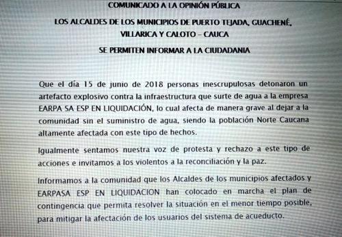 Siguen protestas cívicas en Puerto Tejada